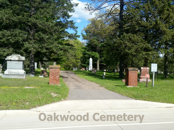 photo of the oakwood cemetery in merrillan wisconsin