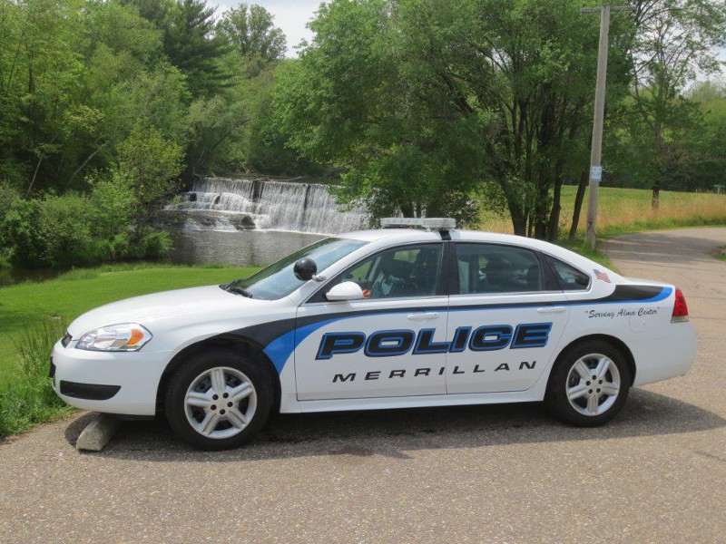 picture of the village squad car in merrillan wisconsin